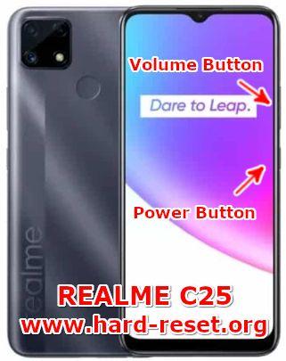 hard reset oppo realme c25