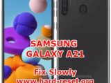 solution to fix lagging slowly performance issues on samsung galaxy a21