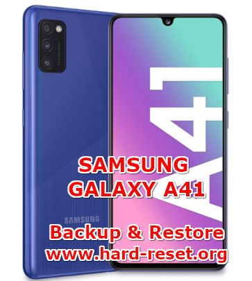 solution to backup and restore data on samsung galaxy a41