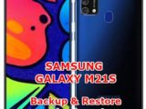 how to backup restore data on samsung galaxy m21s