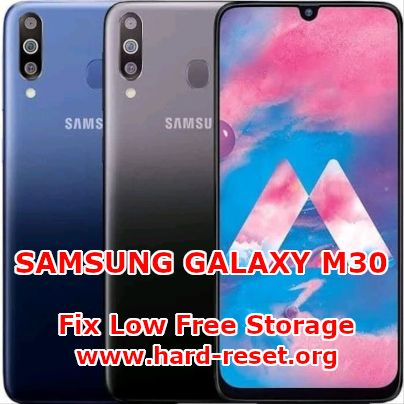 solution to fix low free storage on samsung galaxy m30 memory full