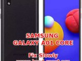 solution to fix lagging issues on samsung galaxy a01core
