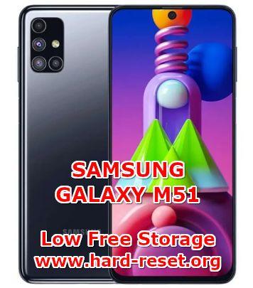 solution to fix low free storage on samsung galaxy m51