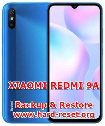 solution to backup & restore data on xiaomi redmi 9a
