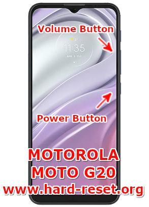 hard reset motorola moto g20