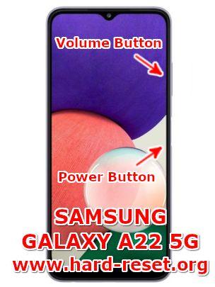 hard reset samsung galaxy a22 5g