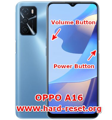 hard reset oppo a16