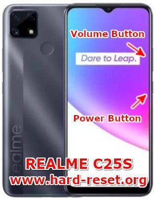 hard reset oppo realme c25s