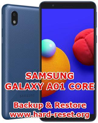 backup & restore data on samsung galaxy a01 core