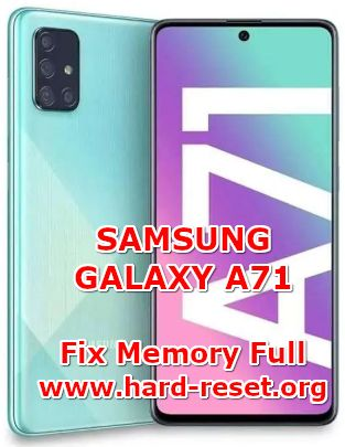 solution to fix low free storage on samsung galaxy a71