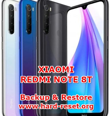 how to backup & restore data on xiaomi redmi note 8t