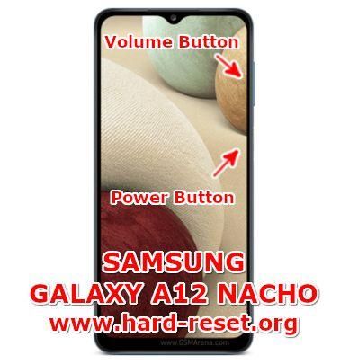 hard reset samsung galaxy a12 nacho