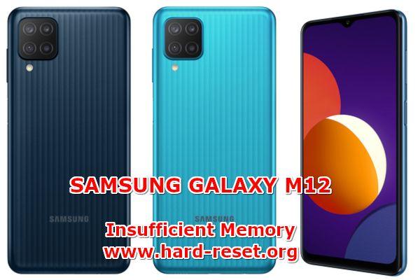 hwo to fix low free storage full problems on samsung galaxy m12