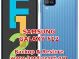 how to backup & restore data on samsung galaxy f12