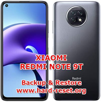 how to backup & restore data on xiaomi redmi note 9t